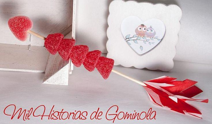 San Valentín. Flechazo de Chuches en rojo.