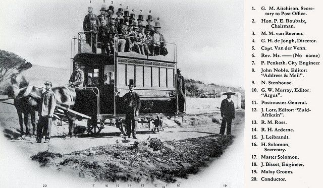 Inauguration of the first horse-drawn train of the Cape Town & Green Point Tramway in 1863 | Flickr - Photo Sharing!