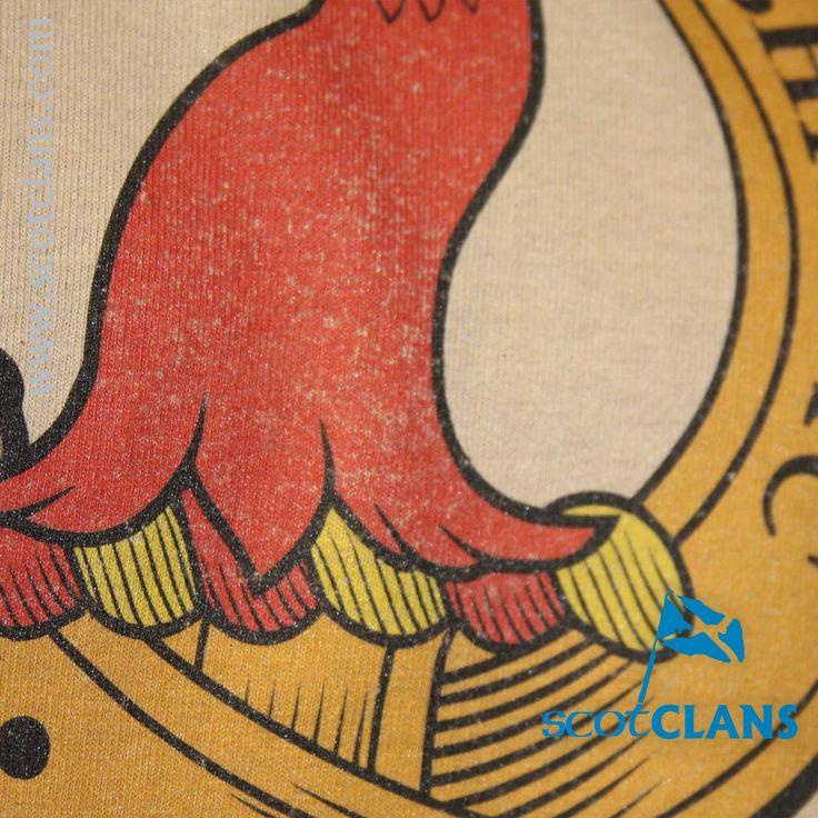 MacNeacail Clan Crest T Shirt Detail