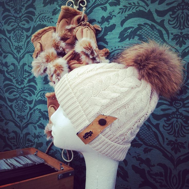 The chunky knit cream bobble hat with Raccoon fur Pom Pom looking stunning available for just £39 www.hollandcooper.com #hollandcooper