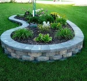 An Idea For A Retaining Wall Around Front Yard Tree Landscape Designing Gardening Fun Pinterest Garden Landscaping And