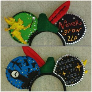 Homemade DIY Peter Pan Mickey ears