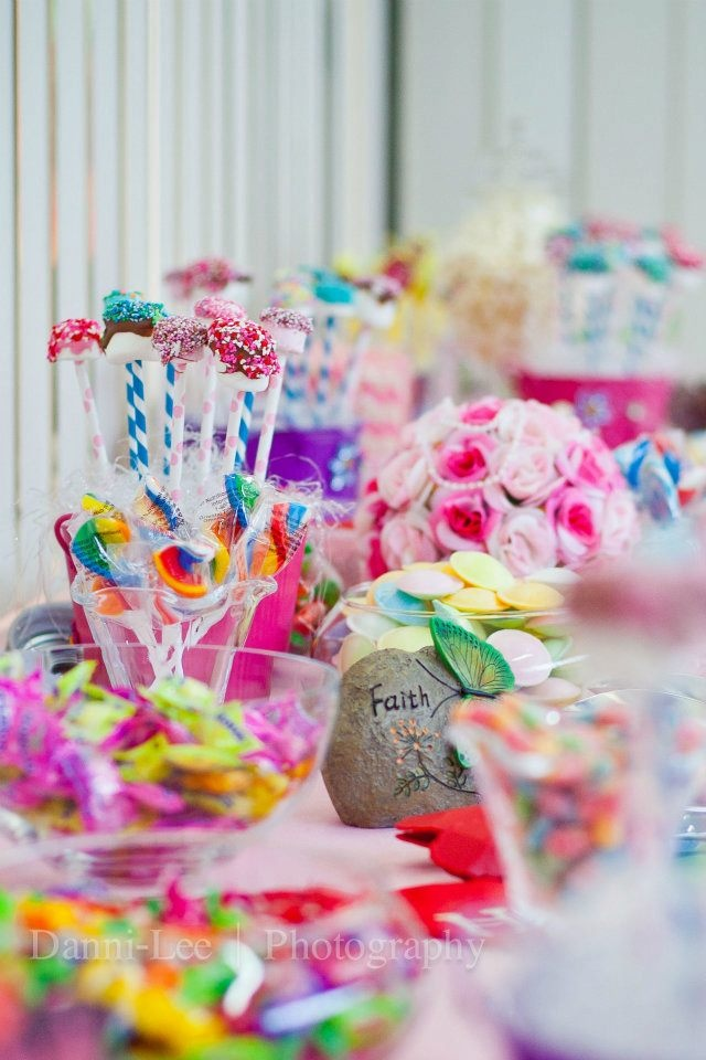 Baby Shower Sweet Table Ideas pink and grey elephant dessert table pretty my party Enchanted Candy Table