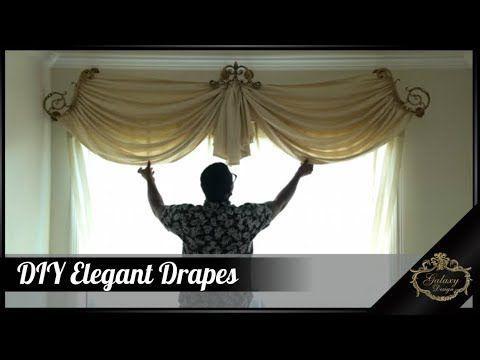 Do It Yourself DIY Elegant Drapes