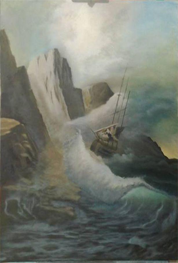 Oil painting based on the work of Eugene Garin.