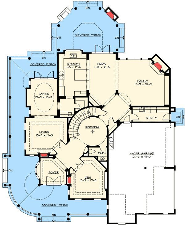 17 best images about luxurious floor plans on pinterest for Luxury shingle style house plans