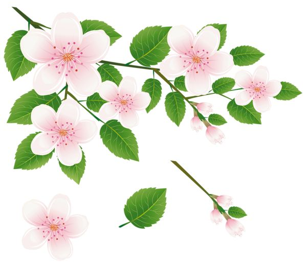 clipart trees and flowers - photo #11