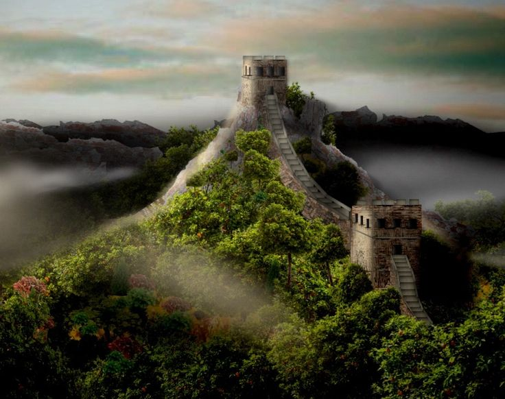 'Great Wall pic # 2 different lighting' created by Selena in #neybers