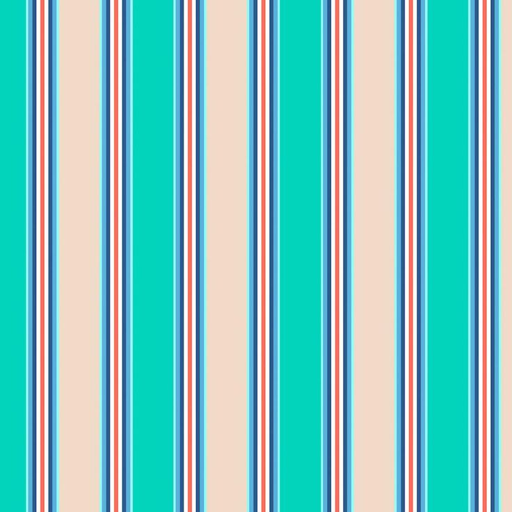 Plantation Patterns, LLC Seaglass Stripe Outdoor Dining Chair Cushion (2-Pack)