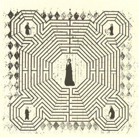 Disegno del labirinto della cattedrale di Reims - . Il labirinto che c ...