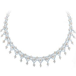 Ben Moss Jewellers Freshwater Pearls, Sterling Silver Necklace/Amanda