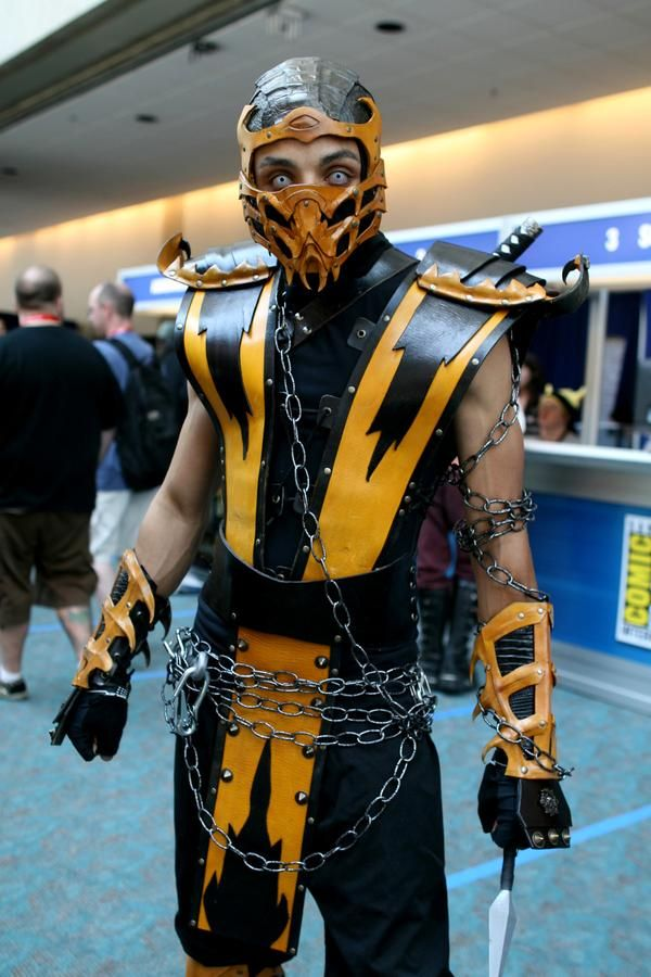 scorpio from mortal kombat three gold stars thanks to alexis provencher for telling me