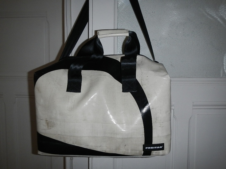 FREITAG sports bag made out of recycled truck tarps and ...