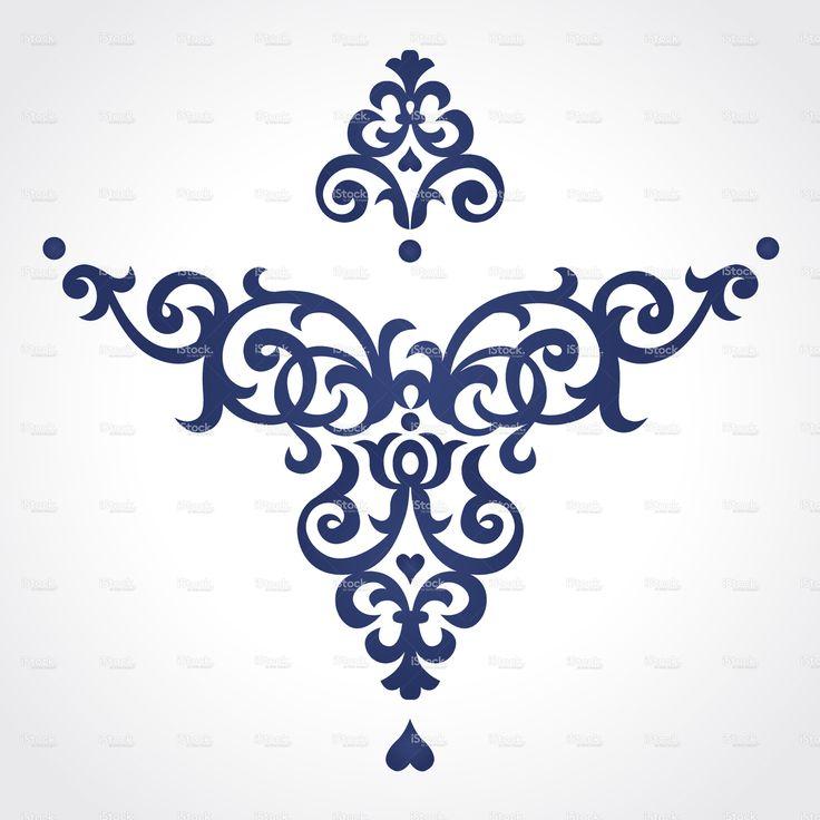 Vector baroque ornament in Victorian style. stock vector art 42001864 - iStock