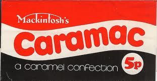 Caramac chocolate bar - my dads favourite - remember buying him this for Fathers day when I was very little ...