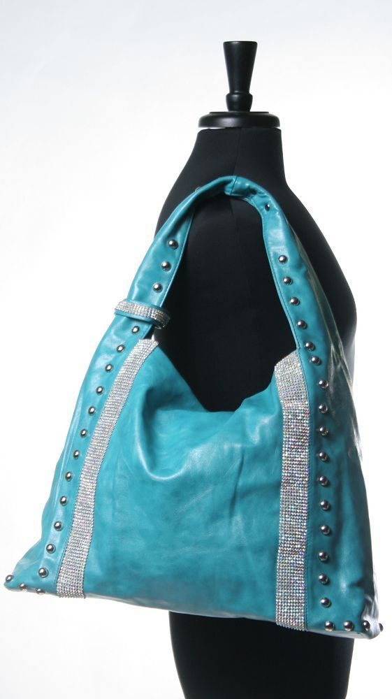 Soft Rhinestone Hobo Bag