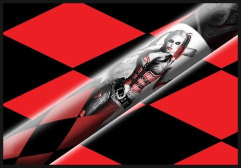 Harley Quinn Tx - Custom Pool Cues - Design Your Own Cue!