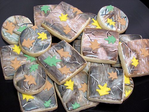 mossy oak camo cookies by the art of the cookie -- wow