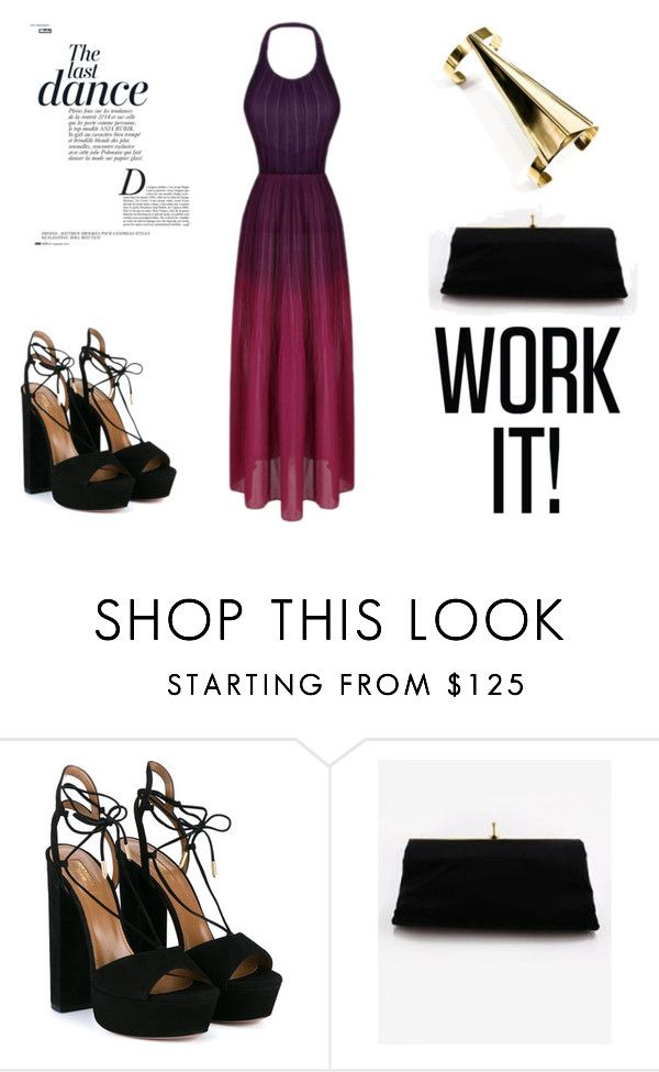 """Summer nights"" by pineapplesandpetals on Polyvore featuring Aquazzura and Anja"