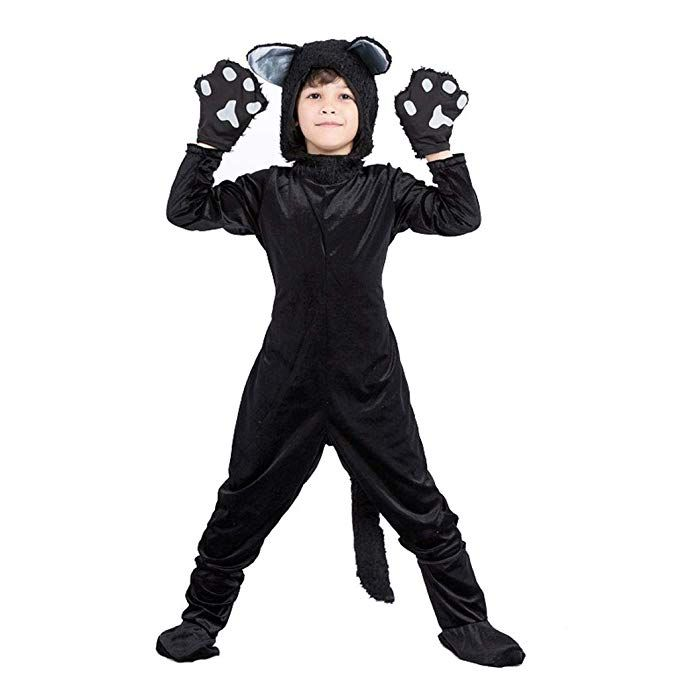 Meeyou Kids Black Cat Costume For Boys Girls Cosplay Child Animal