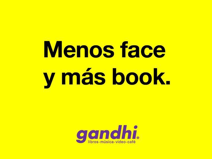 La famosa campaña de librerías Gandhi es un clásico de la publicidad.