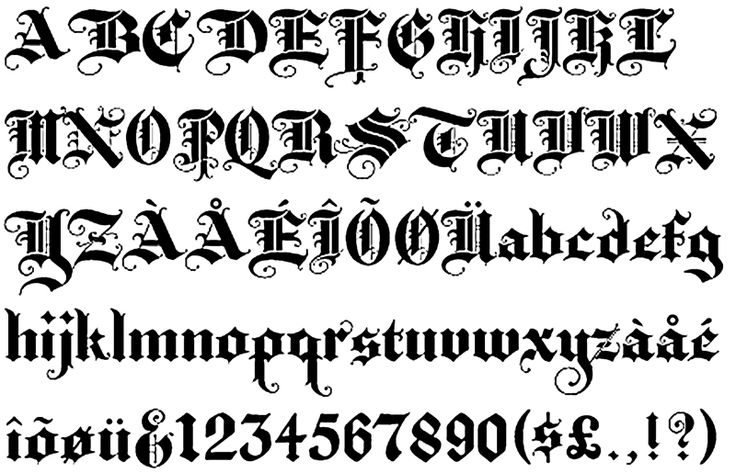 Old English tattoo | Return from Old English Lettering Tattoos to Tattoo Letters Designs ...
