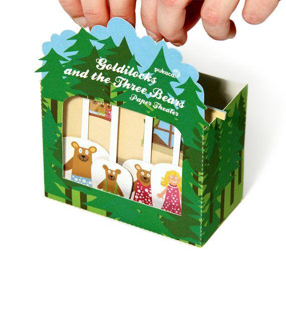 Goldilocks and the Three Bears Paper Theater  Printable by pukaca