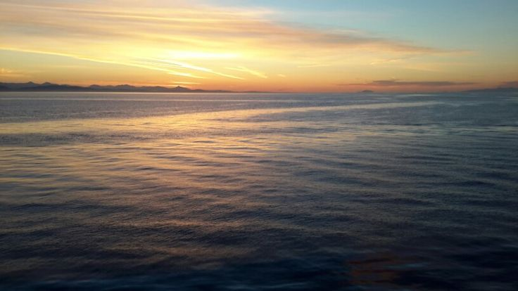 Sunset from the deck of the Victoria to Vancouver ferry
