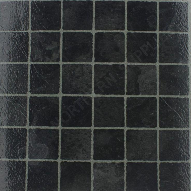 Black Marble Effect Self Adhesive Floor Tiles