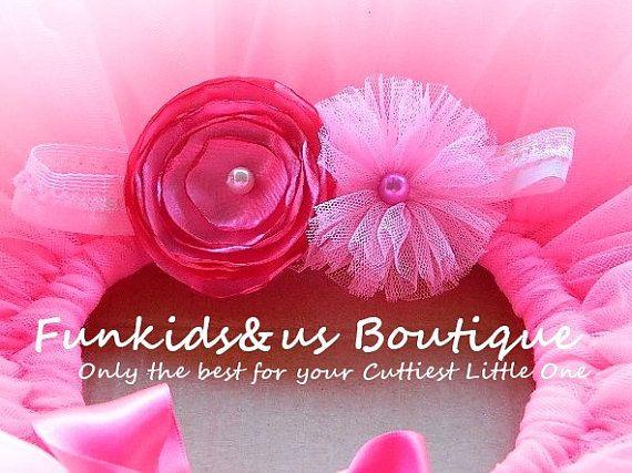 Baby Pink Newborn Headband  Satin Singed by FunkidsandUsBoutique, $6.14