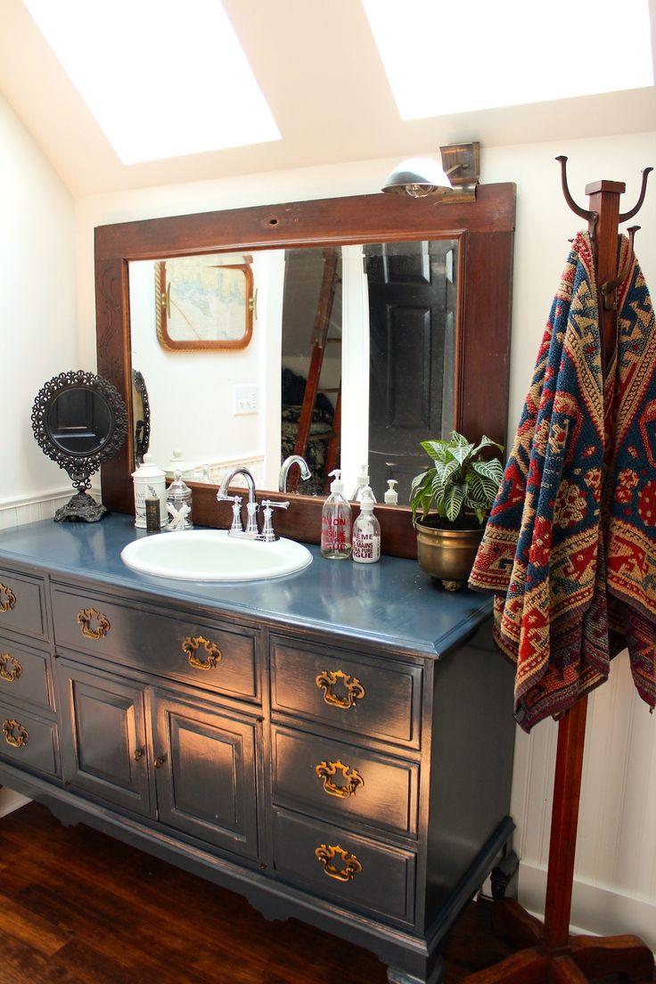 Dresser repurposed as bathroom vanity - Michele And Ryan S New Beginning
