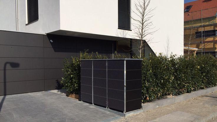 Müllbox für moderne Architektur. Aus Trespa komplett wartungsfrei von Garten[Q]