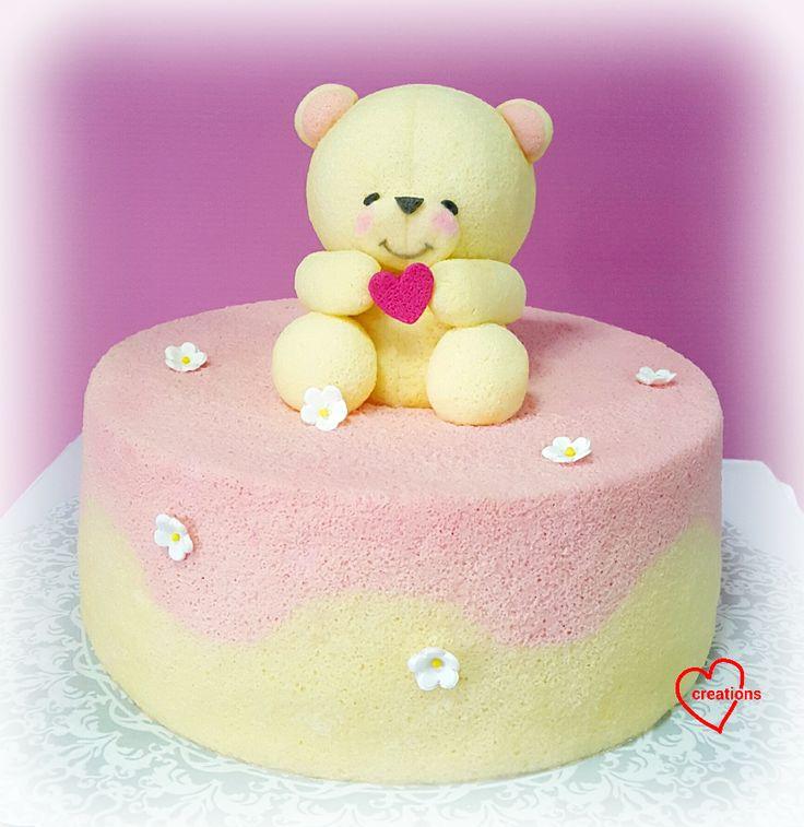 Forever Friends Bear Yuzu Chiffon cake
