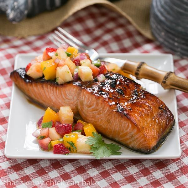 This super simple Maple Glazed Salmon is quickly cooked under the broiler for a healthy, gourmet entree.