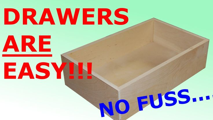 How to make Easy, Simple Drawers