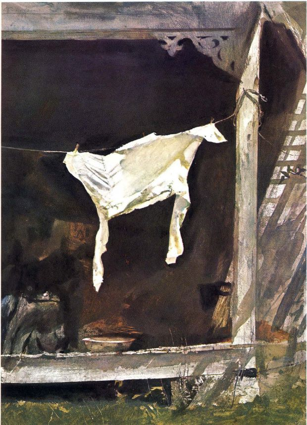 Andrew Wyeth - The Bachelor (1964) | Washer Odor? | Sour Smelling Towels? | Stinky Clean Laundry? | http://WasherFan.com | Permanently Eliminate or Prevent Washer & Laundry Odor with Washer Fan™ Breeze™ |#Laundry #WasherOdor