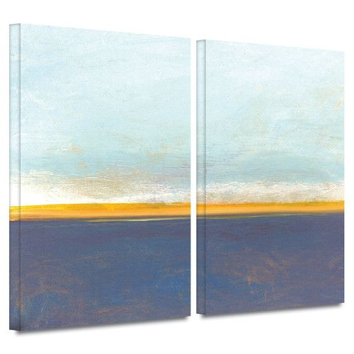 "Found it at AllModern - ""Big Country Sky I"" by Jan Weiss 2 Piece Painting Print on Wrapped Canvas Set"