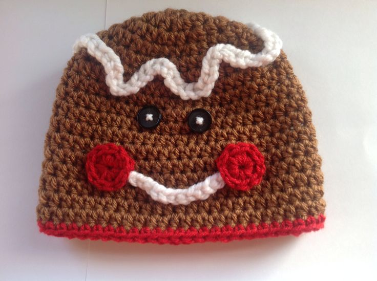 Free Crochet Pattern For Gingerbread Man Hat : 1000+ images about hats patterns scarves and ideas on ...