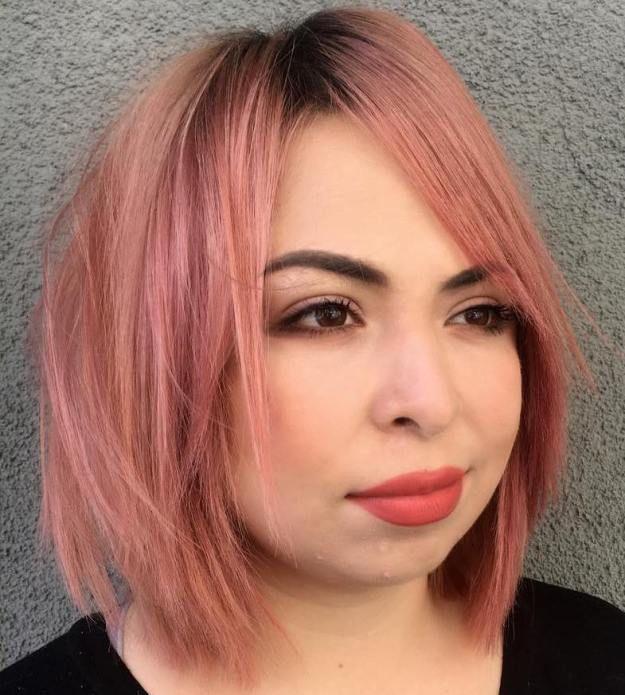 Choppy Pastel Pink Bob