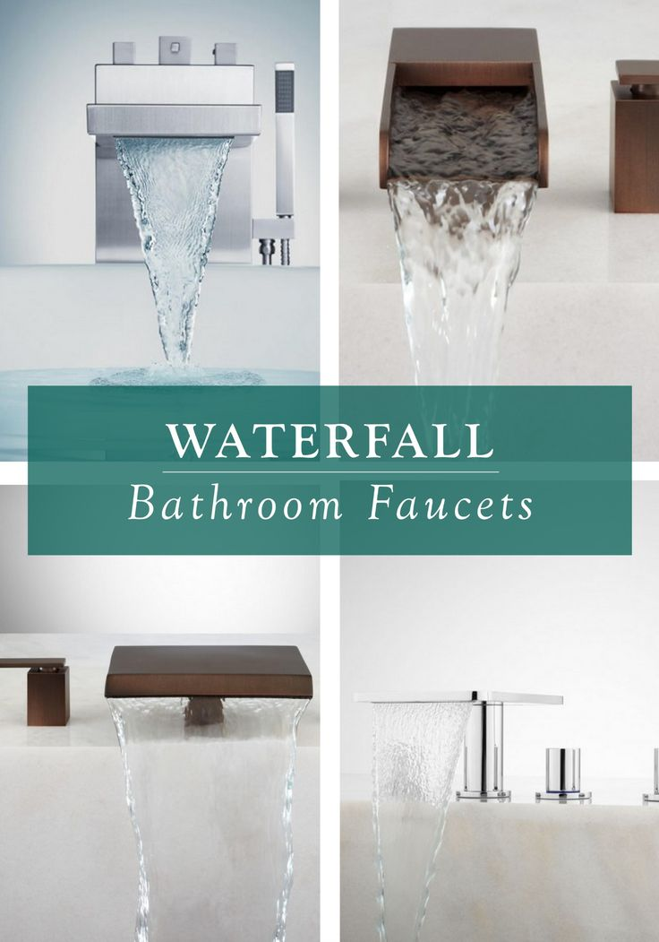 Take your bathroom decor to the next level with a dramatic and luxurious waterfall faucet. From sleek chrome to brushed nickel, Signature Hardware has the color, style, and finish for an instant facelift in your bathroom.