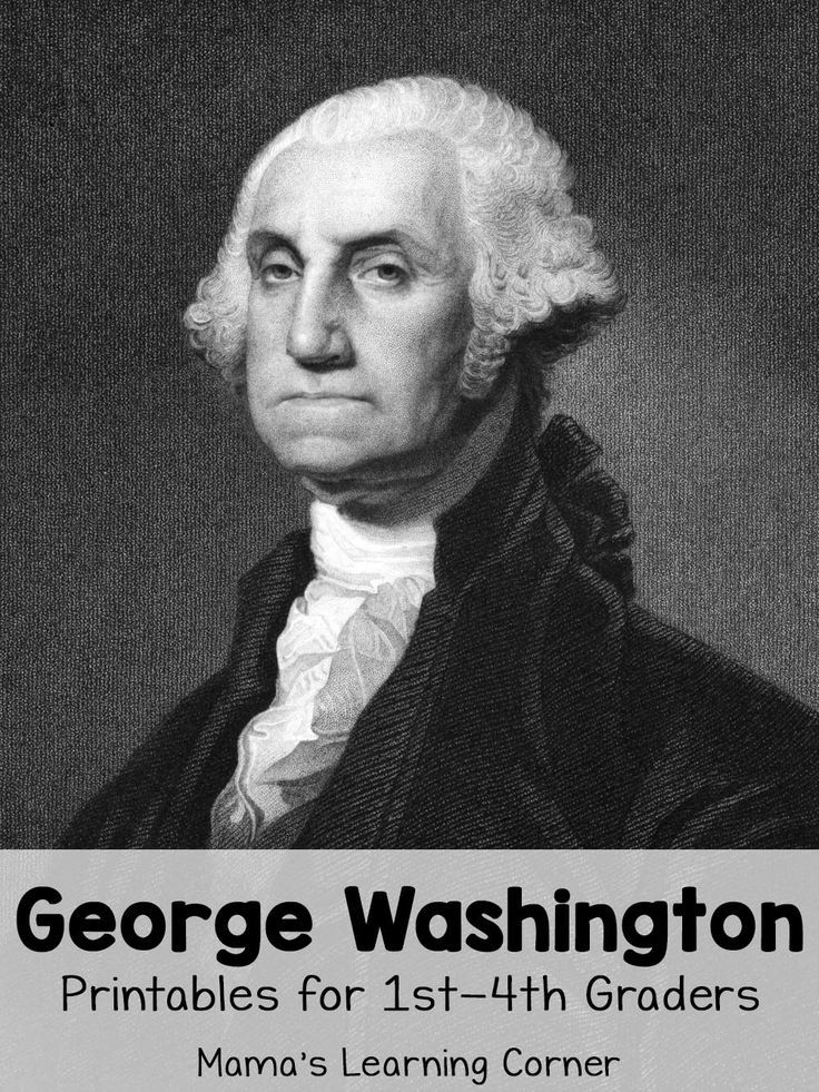 George Washington Worksheets for 1st through 4th Graders plus book suggestions for your unit study