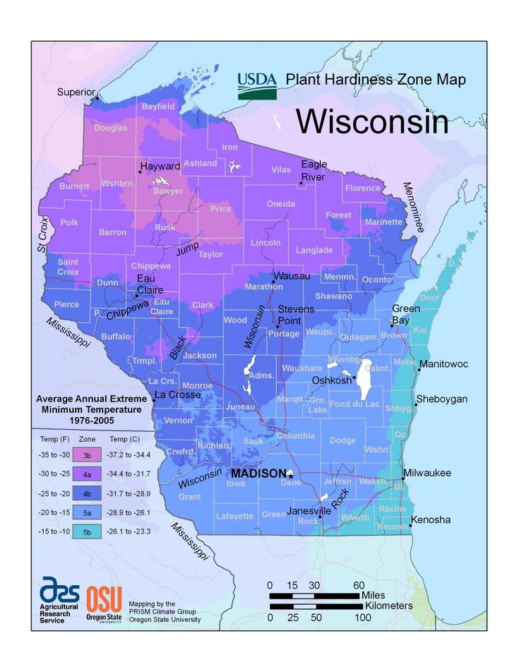 5a zone maps wisconsin horticulture making that - Vegetable garden zone 5a ...
