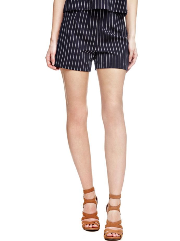 EUR79.90$  Buy here - http://vimns.justgood.pw/vig/item.php?t=2p51ett45357 - STRIPED SHORTS WITH HIGH WAIST