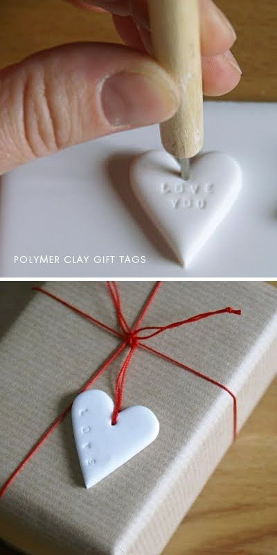 DIY - Polymer Clay Gift Tag step-by-step tutorial. Beautiful personalized gift tags!