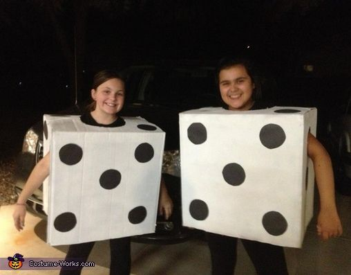 Lisa: My daughter Emily (right) and her friend Meagan(left) have a halloween party for school and were looking for a creative costume that would be easy to make from home. So...