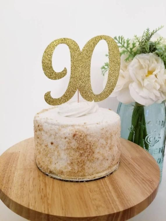 You Are Only 90 Cake Topper 90th Birthday Cake Topper Happy Birthday Party Decoration with Premium Gold Glitter