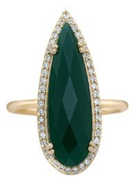 Opulence Green Onyx Pear Ring