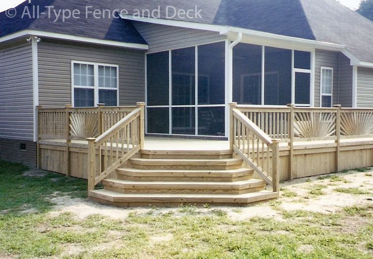 Do It Yourself Home Design: Deck With Corner Stairs