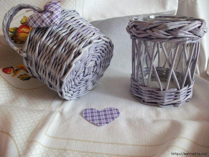 Плетение из газет. Винтажное кашпо из газетных трубочек. Идеи и мастер-класс (2) (700x525, 300Kb)