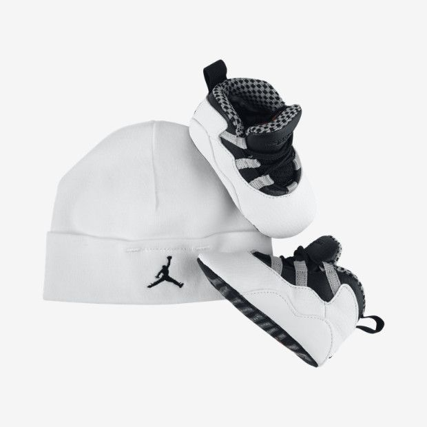 Air Jordan 12 Kids Black White shoes